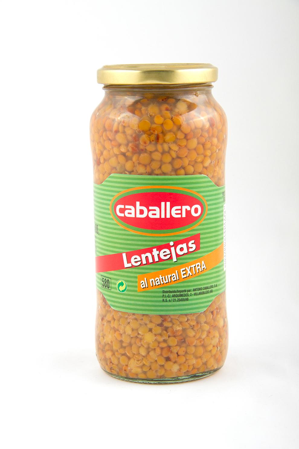 Lentejas cocidas frasco legumbres caballero for Cocinar lentejas de bote