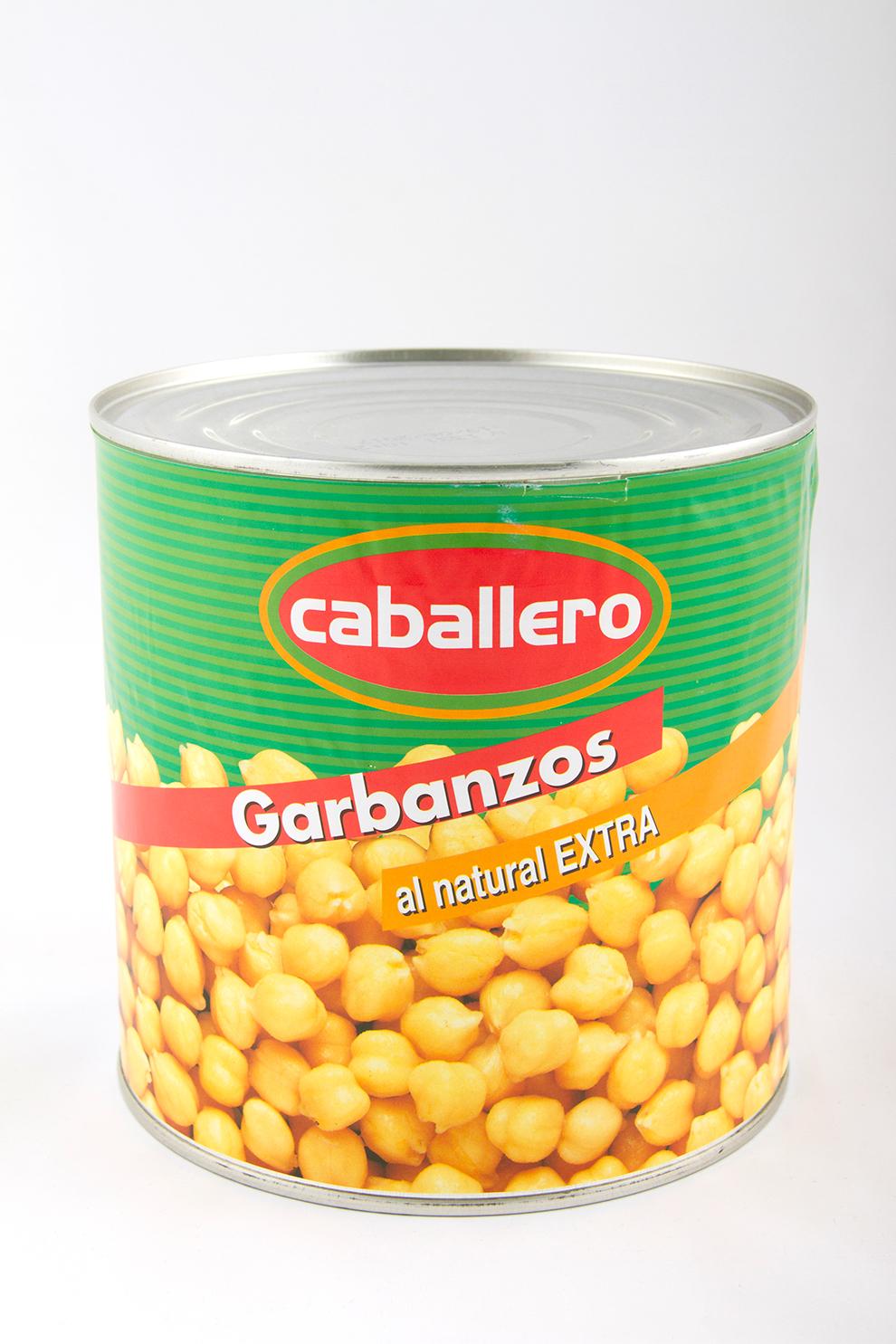Garbanzos cocidos lata legumbres caballero for Cocinar lentejas de bote